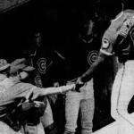 Andre Dawson slams his 300th homerun in Cubs 4-2 loss