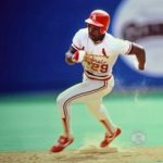 Vince Coleman breaks Davey Lopes record stealing his 39 & 40th base without being caught
