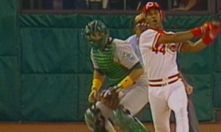 Eric Davis becomes the 22nd player in Series history to hit a home run in his first World Series at-bat