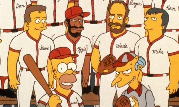 "The Simpsons entitled ""Homer at the Bat"" has several Major Leaguers appear"