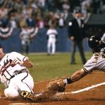 In Game 7 of the NLCS, Francisco Cabrera's ninth inning, two-out pinch hit single tallies two runs, giving the Braves a stunning comeback victory, 3-2 over the Pirates. The backup catcher had only three hits during the regular season.