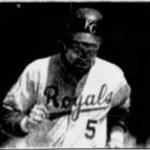 George Brett of the Kansas City Royals hits his 300th home run