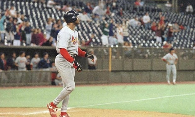 CardinalsOFMark Whitenties the major-league record forRBIsin a game with 12 in St. Louis' 15 – 2 win over theReds