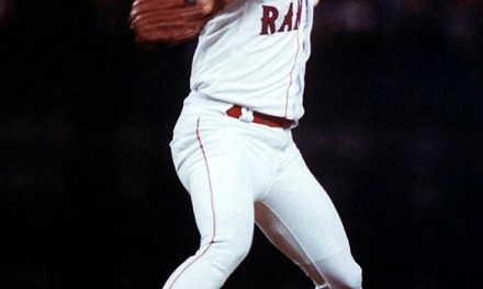 Kenny Rogers of the Texas Rangers throws a perfect game against the California Angels