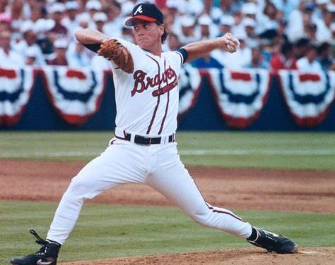 Tom Glavine and John Smoltz combine on a seven-hit shutout to blank the Astros, 1-0, in Game Two of the N.L.D.S.