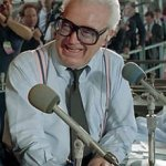 Famed broadcaster Harry Caray dies of complications caused by a stroke