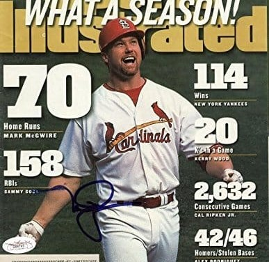 St. Louis Cardinals first baseman Mark McGwire is named by the Associated Press as the Male Athlete of the Year.