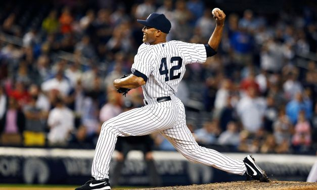 Mariano Rivera breaks Whitey Ford's record for consecutive scoreless innings pitched in postseason play with 33 1/3 scoreless frames.