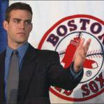 The Boston Red Sox hire 28-year-old Theo Epstein as their new general manager
