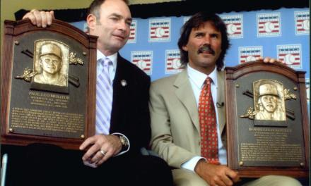 Dennis Eckersley and Paul Molitor are inducted into the hall of fame