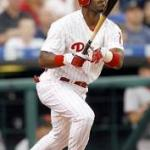 Jimmy Rollins hitting streak halted at 38 games