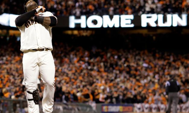 Pablo Sandoval becomes the fourth major leaguer to hit three home runs in a World Series game