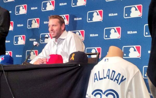 Roy Halladay announces his retirement, ending a stellar 16-year career