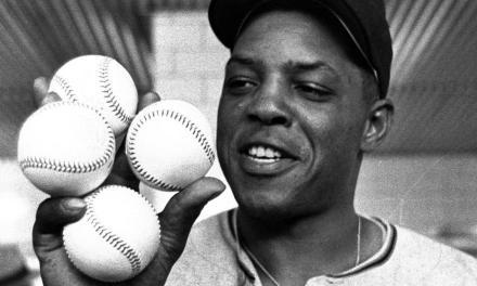 Willie Mays of the San Francisco Giants steals the show at the All-Star Game