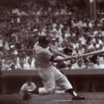 Mickey Mantle hits his first Yankee Stadium home run