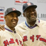 relief pitcher Lee Smith and OF/DH Harold Baines are elected into the Hall of Fame by Veteran Committee