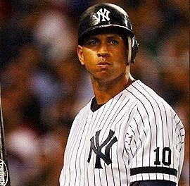 Yankee third baseman Alex Rodriguez hit his 500th homer