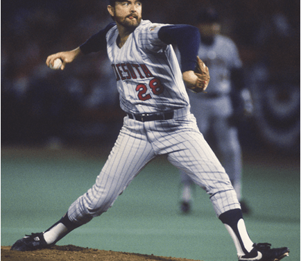 On the day the Twins are celebrating their 25th anniversary, in a game which also features Kirby Puckett hitting for the cycle, Bert Blyleven becomes the tenth major leaguer to record his 3,000th strikeout. The Minnesota right-hander, who tosses a two-hitter, reaches the historic milestone by whiffing Mike Davis in the fifth inning, his eighth of the game, en route to a career-high of 15, in the team's 10-1 victory over Oakland at the Metrodome.