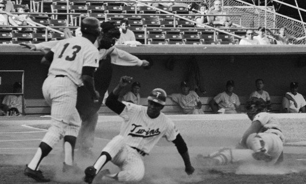 Rod Carew steals home on second triple steal of season for Twins