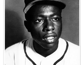 Atlanta Braves slugger Hank Aaron is lifted for a pinch-hitter for the first time in his major league career