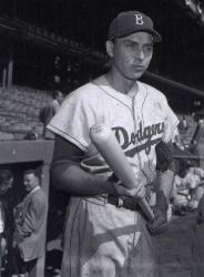 Gil Hodges of the Brooklyn Dodgers sets a new National League record with his 13th career grand slam