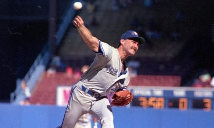 At Yankee Stadium, Toronto Blue Jays pitcher Dave Stieb throws a one-hit, 8 – 0 shutout against New York, giving him three one-hitters in his last four starts dating back to the previous September.