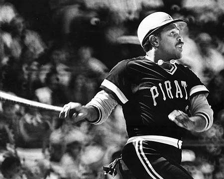 For the second time in his career, Pirate Willie Stargell hits one out of Dodger Stadium.