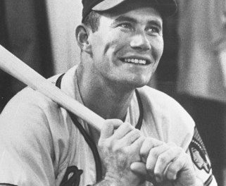 Milwaukee Braves first baseman Joe Adcock suffers a broken arm exactly one year after hitting four home runs in a game