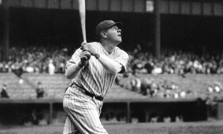 Babe Ruth of the New York Yankees breaks his own single-season record for most home runs