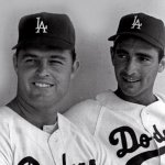 Don Drysdale and Sandy Koufax of the Los Angeles Dodgers end their dual holdout