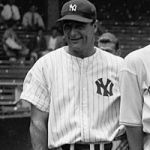 Lou Gehrig of the New York Yankees hits the 23rd and final grand slam of his career