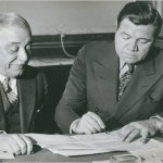 Babe Ruth becomes the highest paid player in major league history when the Yankees announce the Bambino will earn $70,000 per season for the next three years