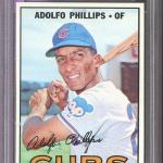 1967 Topps #148 Adolfo Phillips Chicago Cubs MINT PSA 9 Graded Baseball Card