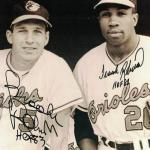 Autographed Frank Brooks Photo - & Robinson Baltimore Orioles 8x10 HOF 19880 PF - JSA Certified