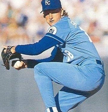 Bret Saberhagen of the Kansas City Royals becomes the fourth pitcher ever to win the American League Cy Young Award twice