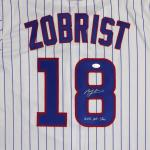 """Chicago Cubs Ben Zobrist Autographed White Majestic Cool Base Jersey """"2016 All Star"""" Size XL Beckett BAS Stock #121176 - Beckett Authentication"""