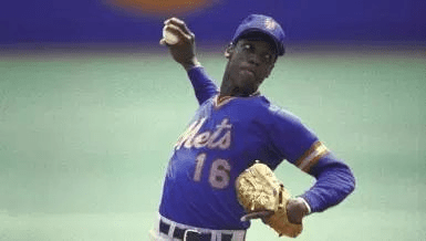 New York Mets right-hander Dwight Gooden sets a National League record for most strikeouts by a rookie