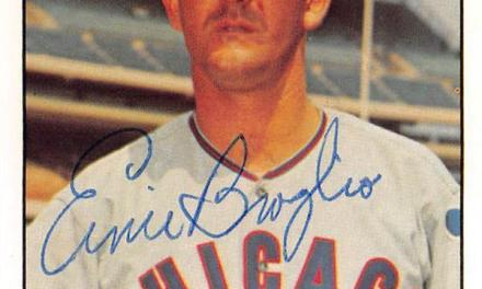 Ernie Broglio throws a record-tying three wild pitches in one inning