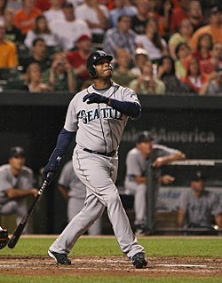Ken Griffey, Jr. of the Seattle Mariners ties a major league record by homering in his eighth consecutive game