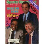 Mickey Mantle Willie Mays Peter Ueberroth Signed 1985 Sports Illustrated Magazine JSA