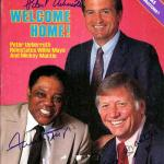 Mickey Mantle, Willie Mays & Peter Ueberroth Autographed Sports Illustrated Magazine #S06550 - PSA/DNA Certified