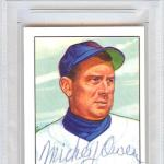 Mickey Owen Autographed 1951 Bowman Reprints Card #174 Chicago Cubs #83826800 - PSA/DNA Certified