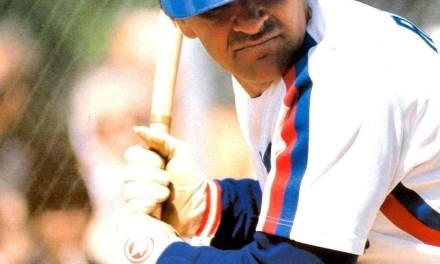 Pete Rose of the Montreal Expos collects the 3,503rd single of his career,