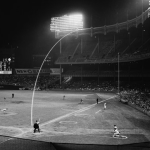 New York Yankees and the Washington Senators play the first night game in the storied history of Yankee Stadium.