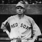 On Babe Ruth day at Fenway Park the Bambino ties Ned Williamson's major league mark of 27 home runs in a season