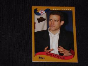 Theo Epstein 2005 Topps Fan Favorites Rookie Card #141 Red Sox Chicago Cubs Gm!