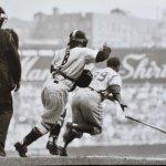 Hall of Famer Roy Campanella of the Brooklyn Dodgers hits three consecutive home runs