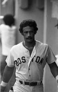 Jim Rice belts 2 homeruns and nearly hits one out of County Stadium