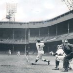 Mickey Mantle of the New York Yankees hits his 535th home run to move into third place on the all-time list