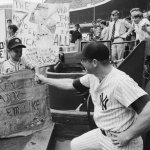 Mickey Mantle makes his major league debut for the New York Yankees